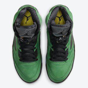 Air Jordan5 Oregon Duck Green Suede